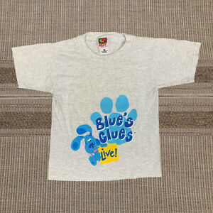 Vintage 2000 Blue's Clues Live! Tour Gray Graphic T-Shirt Youth Small EUC