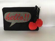 Ladies donna nero Mango firma Tema Da Sera Clutch Bag Purse