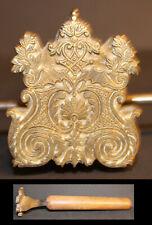 SUPERBE Très grand Fer à Dorer Régence Bronze relieur reliure #101