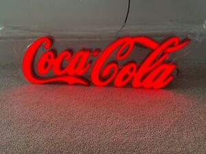 Coca Cola Bar Sign LED Light Red   Small   Bar Clubs Man Cave
