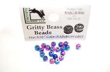 Gritty Brass Beads Ø 3,8mm Hareline 20 St Texturierte Messing Beads RAINBOW GRIT