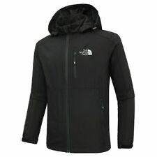 Full zip coat outdoor hooded jacket casual spring autumn soft shell boy shirt UK