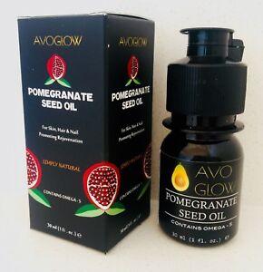 AvoGlow Natural Pomegranate Seed oil, wrinkle reduction, skin rejuvenation 30 ml