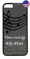 Words Fail Music Speaks Rubber Case Cover For iPhone 11 Pro Max Xs XR 8 Plus 7