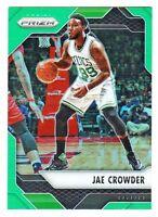 2016-17 Panini Prizm GREEN REFRACTOR PRIZM #45 JAE CROWDER Boston Celtics