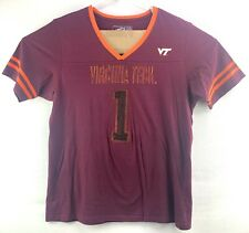 Campus Heritage NCAA Womens XXL Virginia Tech Hokies V Neck T Shirt Sequins