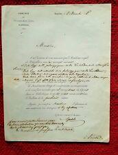 GG106-SCIENZE, ASTRONOMO- STATISTA, LAMBERT ADOLPHE J. QUETELET, AUTOGRAFO, 1846