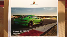 Porsche 991 911 Gt3 RS Prospekt Buch Catalogue