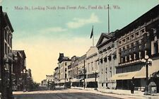 WI - RARE! Main Street looking north from Forest Ave in Fond du Lac, Wisconsin