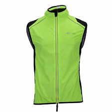 RockBros Mens Cycling Vest MTB Road Bike Wind Vest Windvest Windproof New Green