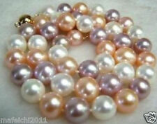 8MM AAA+ Multi-Color South Sea SHELL PEARL NECKLACE 18""