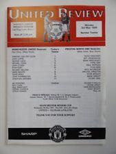 More details for manchester united v preston ne | 1998/1999 | reserves | 3 may 1999 | @ bury fc