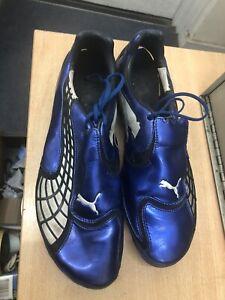 Puma V1.10 SG Mens Football Boots Soccer Soft Ground Grass Studs Blue UK 9.5/44