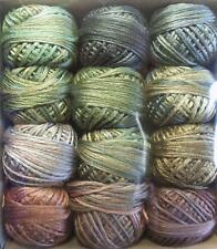 Valdani Luxury Silk Floss Leaves 6 Strand Thread Hand-dyed 12 Spool VAK1006