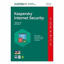 Kaspersky Internet Security 2017 multi-device 3PC / 1Year Original License