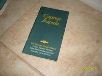 1979 Chevrolet Caprice Impala Owners Manual Owner's Guide Book Original