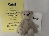 "Steiff The Bareback Rider 4"" Mohair Teddy, The Toy Shoppe Exclusive, #924651"
