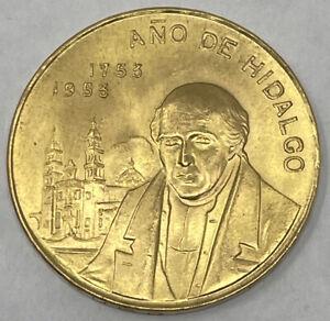 Mexico 1953 GOLD 1/4 Oz 10 Pesos Gold Hidalgo's Birth Coin