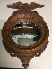 Vtg American Eagle Dart Ind Usa Federal Style Convex Porthole Round Mirror