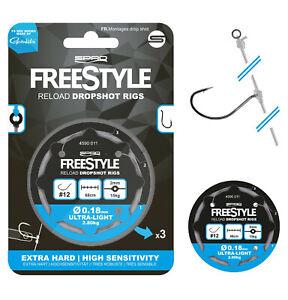 Spro Freestyle Reload Dropshot Rig 3 Stück DS Vorfach Montage