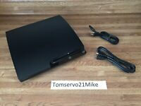 Sony PlayStation 3 PS3 SLIM 160GB Game Console System Only Tested  FREE SHIPPING