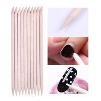 10 Pcs Nail Art Wood Sticks Nail  Remover Rhinestone Picker Tool Tips DIY