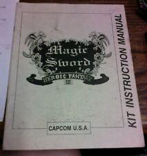 Calvin MAGIC SWORD HEROIC SWORD Arcade Video Game Manual - good used original