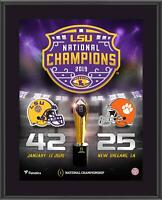 "LSU Tigers College Football Playoff 2019 National Champions 10.5"" x 13"" Plaque"