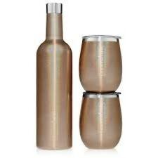 Brumate Wine Set-Glitter Gold
