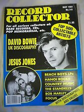 Record Collector Magazine. Issue no. 141. May 1991. David Bowie, Jesus Jones