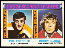 1974 75 OPC O PEE CHEE 3 PHIL ESPOSITO BOBBY CLARK NM LEADERS BRUINS FLYERS