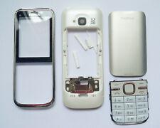 Full Housing cover Case fascias facia For Nokia C5 C5-00 white fascia w keypad -