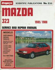 GREGORYS CAR MANUAL MAZDA 323 1985 - 1988