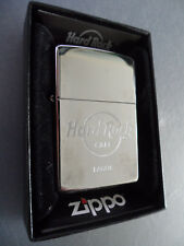 Hard Rock Cafe Lagos - Zippo Lighter - Polished Silver Chrome AUTHENTIC !!