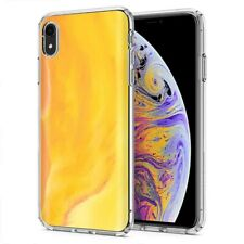 Thin Gel Phone Case Cover Apple iPhone XR,PastelGradient 4 Design Texture Print
