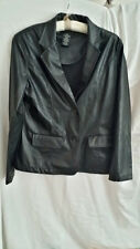 no boundaries Juniors Size Large Faux Leather Jacket - Gently Used
