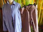lot=veste bleue femme t46-48 +pantalon offert T 46