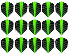 5 New Sets Harrows Quantum Standard Dart Flights – Green - Ships w/Tracking
