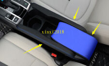 3x For Honda Civic 2016-2018 Blue Leather Top Center Armrest Surface Case Cover