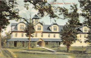H63/ Kramer Indiana Postcard c1910 Hunter House Building 52