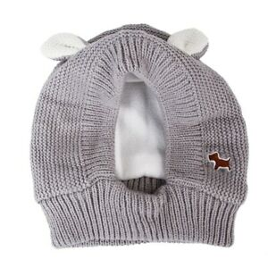 Warm Knitted Dog Cold Winter Cap Pet Hat Dogs Outdoor Warming Headgear Clothes