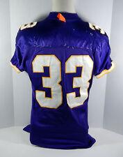 1997 Minnesota Vikings #33 Game Issued Purple Jersey
