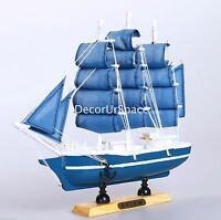 """9"""" WOODEN Sailing Boat Home Decoration SAILBOAT Table Nautical decor Collection"""