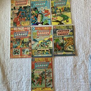 Vintage DC Justice League America 7 Comic Lot Including 100 Page Issues