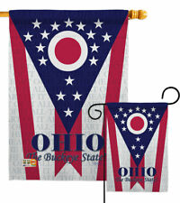 Ohio Garden Flag States Regional Decorative Small Gift Yard House Banner