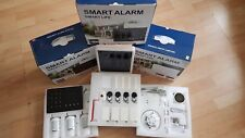 GSM SMS  Smart Security Burglar Alarm Systems ( White Keypad Panel )
