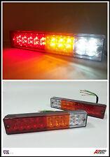 PAIR 12V LED REAR TAIL LIGHTS LAMP 4 FUNCTION TRAILER CARAVAN TRUCK LORRY 20 LED