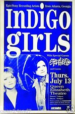 Indigo Girls 2000 Vancouver Concert Tour Poster-American Folk Rock Music Legends