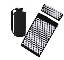 Acupressure Relieve Stress Back Body Pain Spike Mat Pillow Set Massage Yoga Mat