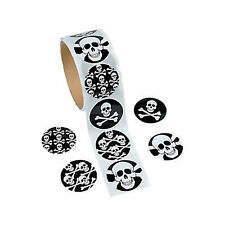 PIRATE PARTY Skull and Crossbones Fun Stickers Favour Pack of 50 Free Postage